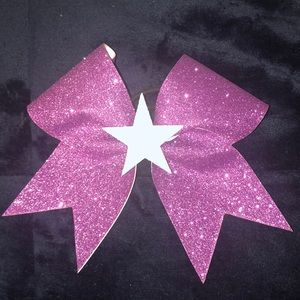 Purple Bow with Star Center